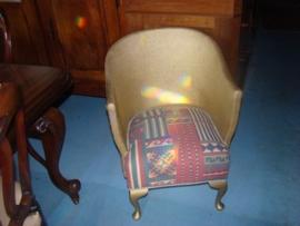 Antieke loyd loom stoel.