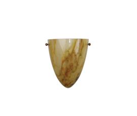 Wandlamp druppel S. met ophanging licht gemarmerde kap nr 2292.07 + h292.60