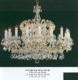 Boheems kristallen 18-lichts luchter nr 14 5180 018 9001