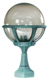 Buitenlamp sokkel bol 25cm serie Rotund 2 kleuren leverbaar nr: 4031