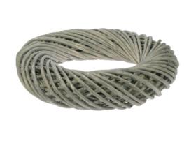 Handgevlochten wilgen krans grijs natural d-30cm nr 603215