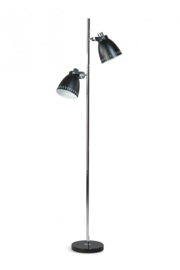 Vloerlamp Acate 2L h 175cm zwart nr 05-VL8244-30