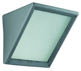 Buitenlamp wand serie Triangolo h 19cm E27 grafiet nr 4170