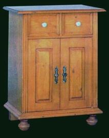Grenen audio kastje met 2 deurtjes nieuw van oud hout nr: 35