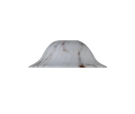 Glazen kap hoedkap d15cm h7cm gt4,4 E27 wit opaal gemarmerd nr 515.10
