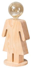 Tafellamp Eva XL serie family hout 1xE27 h 36cm br 24,5cm nr 05-TL3293-73