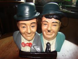 Vintage beeld Laurel en Hardy