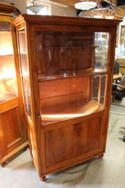 Glaskast 1-deur iepenhout met origineel binnenwerk 1890-1900 nr 11024