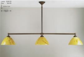 T-lamp br-140cm 3-lichts midden bruin gemarmerde calimero kap nr 3246.02