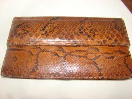 Slangenleren tasje of clutch