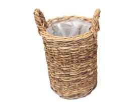 Bloemenmand Basket cilinder M ABACA natural d-35cm nr 800867A