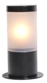 Buitenlamp paal h-25 serie Lumare opaal/helder zwart nr: 330