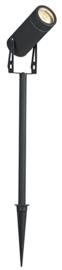 Buitenspot 4in1 GU10 grafiet wand en prik 2x 18cm verleng nr 21522