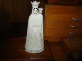 Mariabeeld van geglazuurd porselein.N.D.de Bonsecours