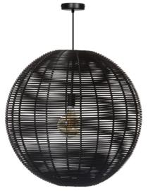 Hanglamp showmodel Black Jack d70cm h110cm zwart 1xE27 nr 05-HL4465-70-30S
