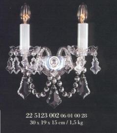 Boheems zuiver kristallen wandlamp nr 22 5123 002 0601