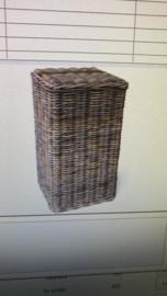handgevlochten plantenkolom LARGE antiek grijs nr: 800028