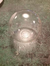 Glazen bol transparant dia 12cm voor kleine fitting met veer nr 1200.55