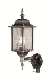 Buitenlamp wand serie Wexford zwart/zilver sensor nr: 2089