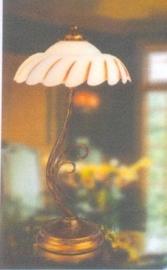 Tafellamp kasteelserie 2-lichts met glazen schaal nr:20393/2