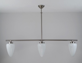 T-lamp 140cm breed mat nikkel met opaal witte traan medium 307349.07