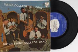 Dutch Swing College Band met Swing college at home nr.2 1955 Single nr 202014