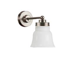 Wandlamp wand mini mat nikkel met opaal kapje model Rippeltje nr 7WM-613.00