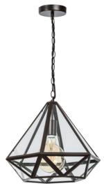 Hanglamp Showmodel serie Fame br43cm en h118cm metaal en glas E27 nr 05-HL4494-43S