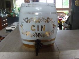 Porceleinen vat voor gin.