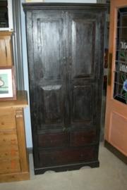 Antieke koloniale 2-deurskast +/- 1910-1920 nr 10002