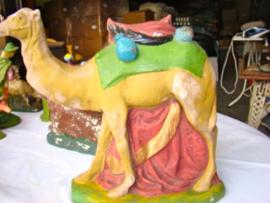 Oude kameel voor kerststal.