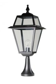Buitenlamp sokkel 65cm serie Perla zwart nr: 142