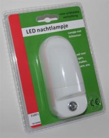 Automatisch nachtlampje LED wit met dag nacht sensor nr: 23-190008