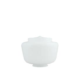 Glazen bol model Sultan opaal wit d-25cm h-16cm gr-10cm nr 480.00
