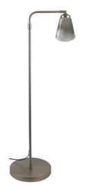 Vloerlamp Haaks mat nikkel verst:106-170 Trechter ribbel nr Vh-15.11