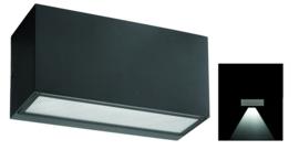 Buitenlamp wandspot enkel serie Vista grafiet 22,5x11cm nr 3102