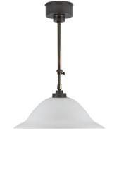 Schuifstang 2x25cm brons mat opaal hoedkap 40 nr 1Sb-540.39