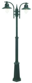 Buitenlamp mast h-182/249 2-lichts serie Romanzo ALU zwart E27 nr 3022