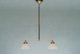 T-lamp 45cm breed gepolijst messing met champagne dakkap 20cm nr 900.01