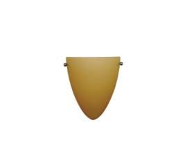 Wandlamp druppel S. met ophanging mat champagne kap nr 2292.07 + h292.59