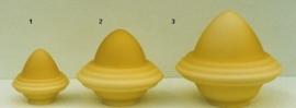 Glazen kap bolvormig model oliepot klein (1) nr: 165.59 Champagne MAT