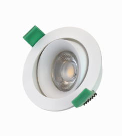 Inbouwspot GU10 max 50w kantelbaar wit dia 85mm h25mm nr 05-1190-31