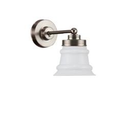 Wandlamp wand mini mat nikkel met opaal kapje model Ringglaasje nr 7WM-712.00