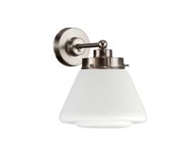 Wandlamp wandmini mat nikkel met opaal bol Japan nr 7Wm-470.00