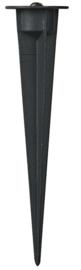 Buitenspot wand en prik 12W LED zwart nr 10-45530 + 10-45522