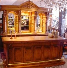 Bar + achterwand nr. 7 afgebeeld 200cm