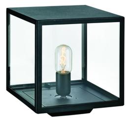Buitenlamp sokkel lamp serie Lofoten zwart E27 h27cm IP44 nr 501941