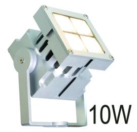Buitenspot wandspot Spotpro 4-bundels ALU-grijs LED 10W nr 10-354621