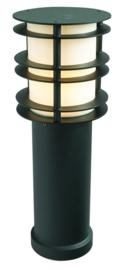 Buitenlamp paal h-49 serie Verso gegalvaniseerd staal zwart nr 3215