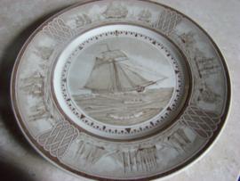 Wandbord van zeilschip de Union uitgegeven door Eturia Wedgwood .Verkocht